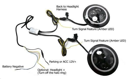 Install Jeep Wrangler LED Headlights : 10 Steps - InstructablesInstructables