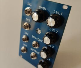 4 Channels Mixer Module for Modular Synthesizers