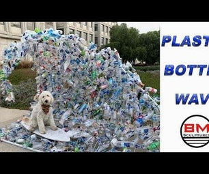 Wave Made Out of Plastic Bottles
