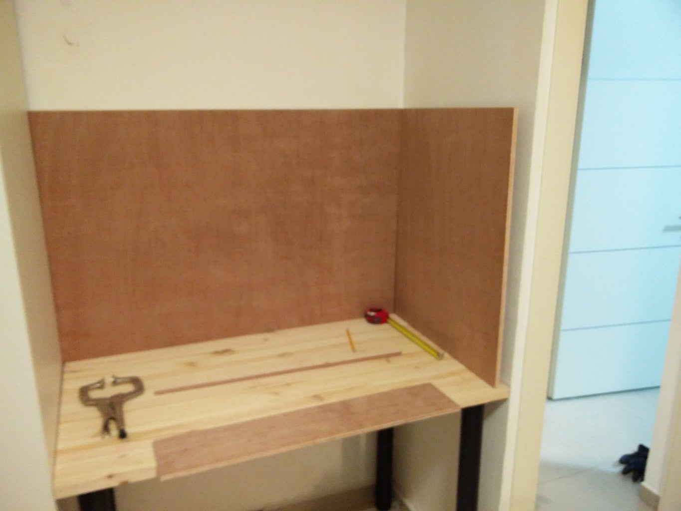 Start With the Attaching the Panels to the Walls