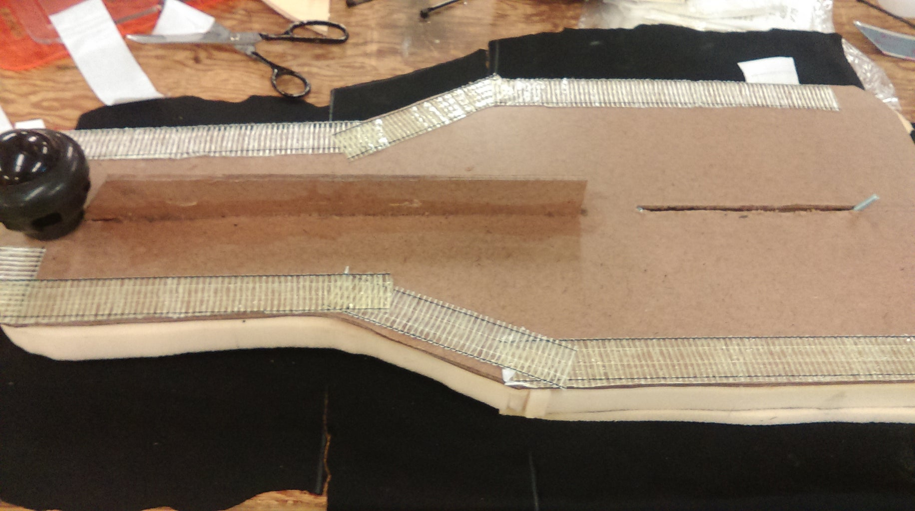 Upholstering the Board