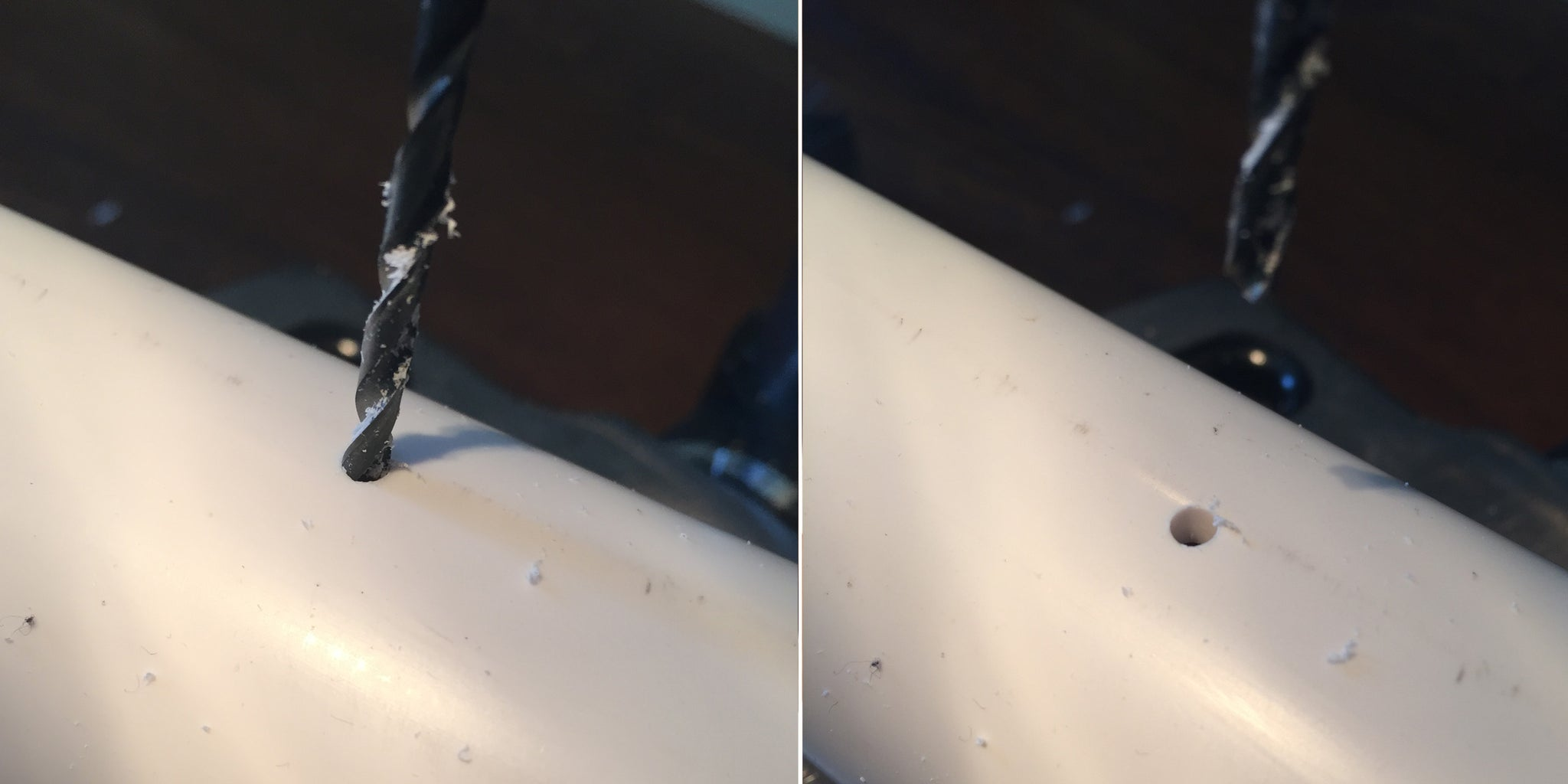 Drill Holes Through the PVC Pipe