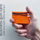 Business Gun-Card - Rubber Band Gun