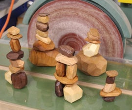 Scrap Wood Balancing Rocks - Tumi Ishi