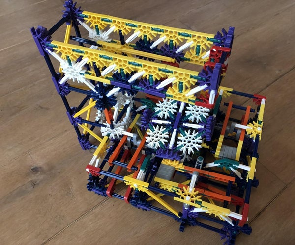 4-way Path Seperator for Knex Ball Machines