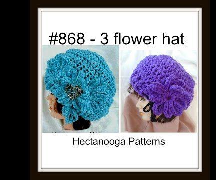 Crochet Hat Pattern, # 868, free hat tutorial