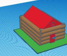 TinkerCAD Log Cabin