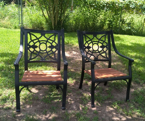 Upgrading Patio Chairs With Old Fence Slats