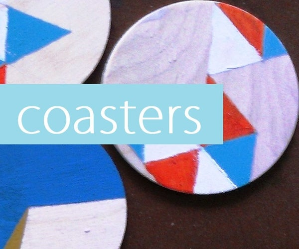 DIY Colorful-wooden Coasters