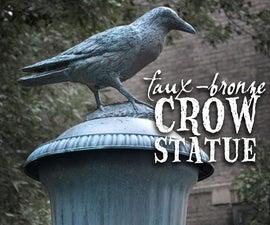 Faux-Bronze Crow Statue