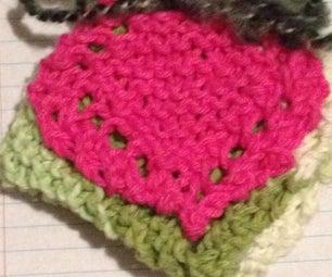 Knit Washcloth/makeup Cloth