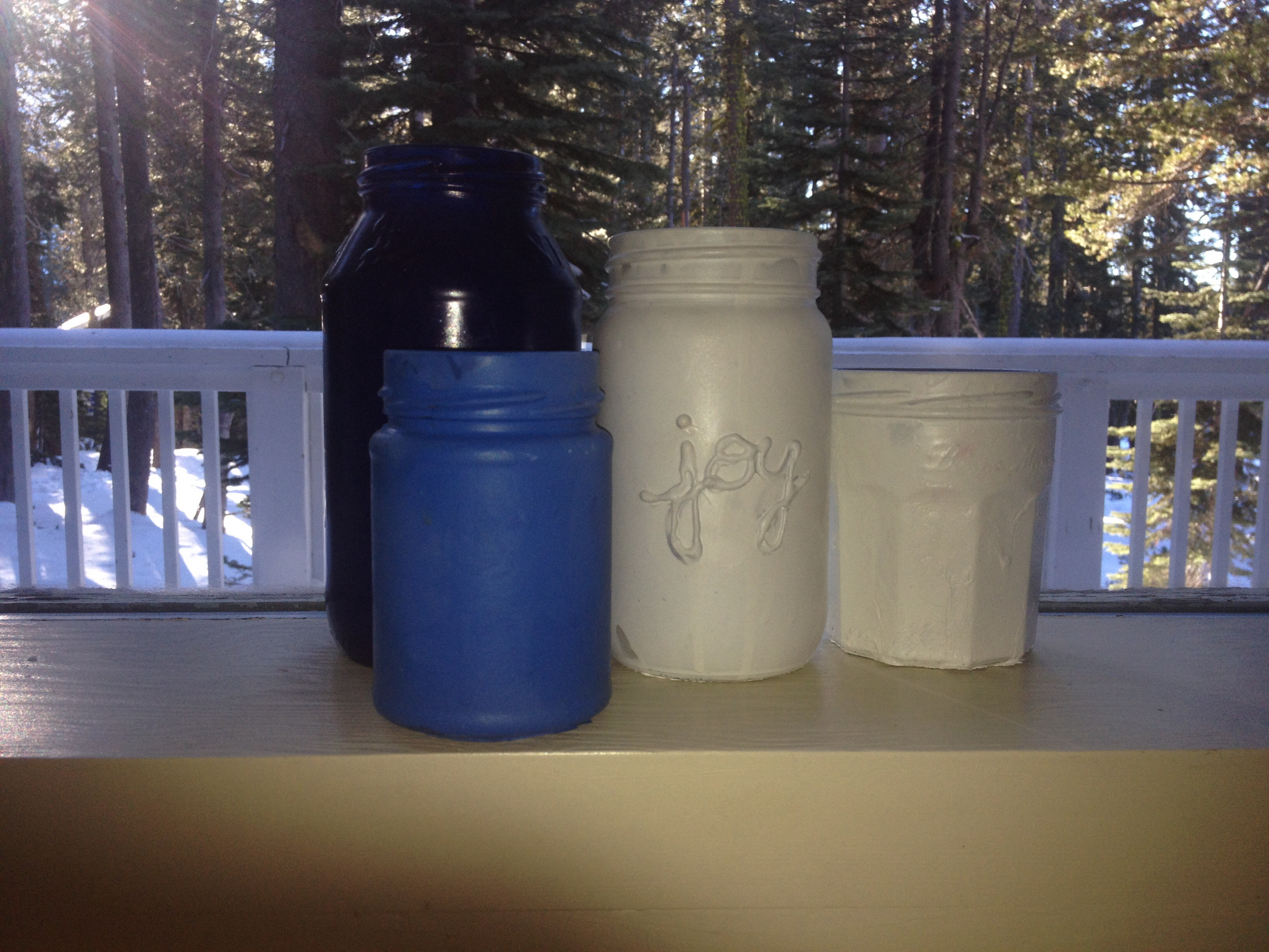 Lettered Or Solid Colored Mason Jar Vases