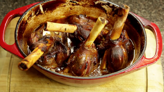 By Now Your Lamb Shanks Should Be Ready to Go!