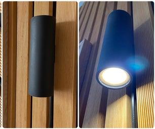 DIY如何用PVC制作壁挂灯||超级简单DIY壁灯!