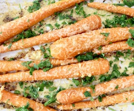 Parmesan Roasted Carrots With Garlic