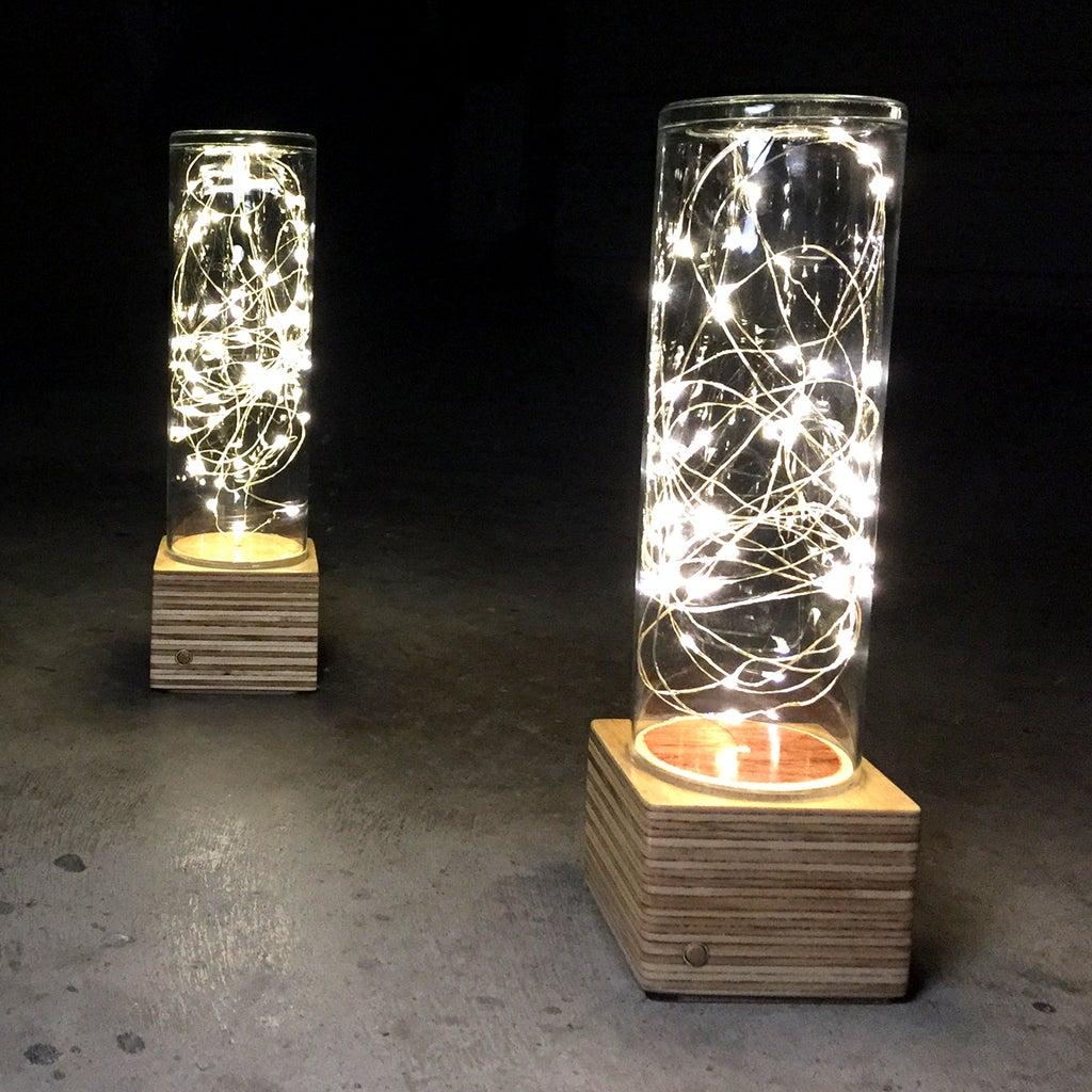 Fairy Light Lamp - Battery Powered - No Soldering