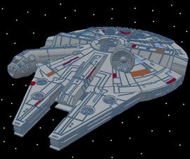 Millennium Falcon With Interior- Tinkercad