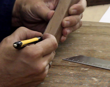 Prepare the Body: Cut the Slot for the Blade