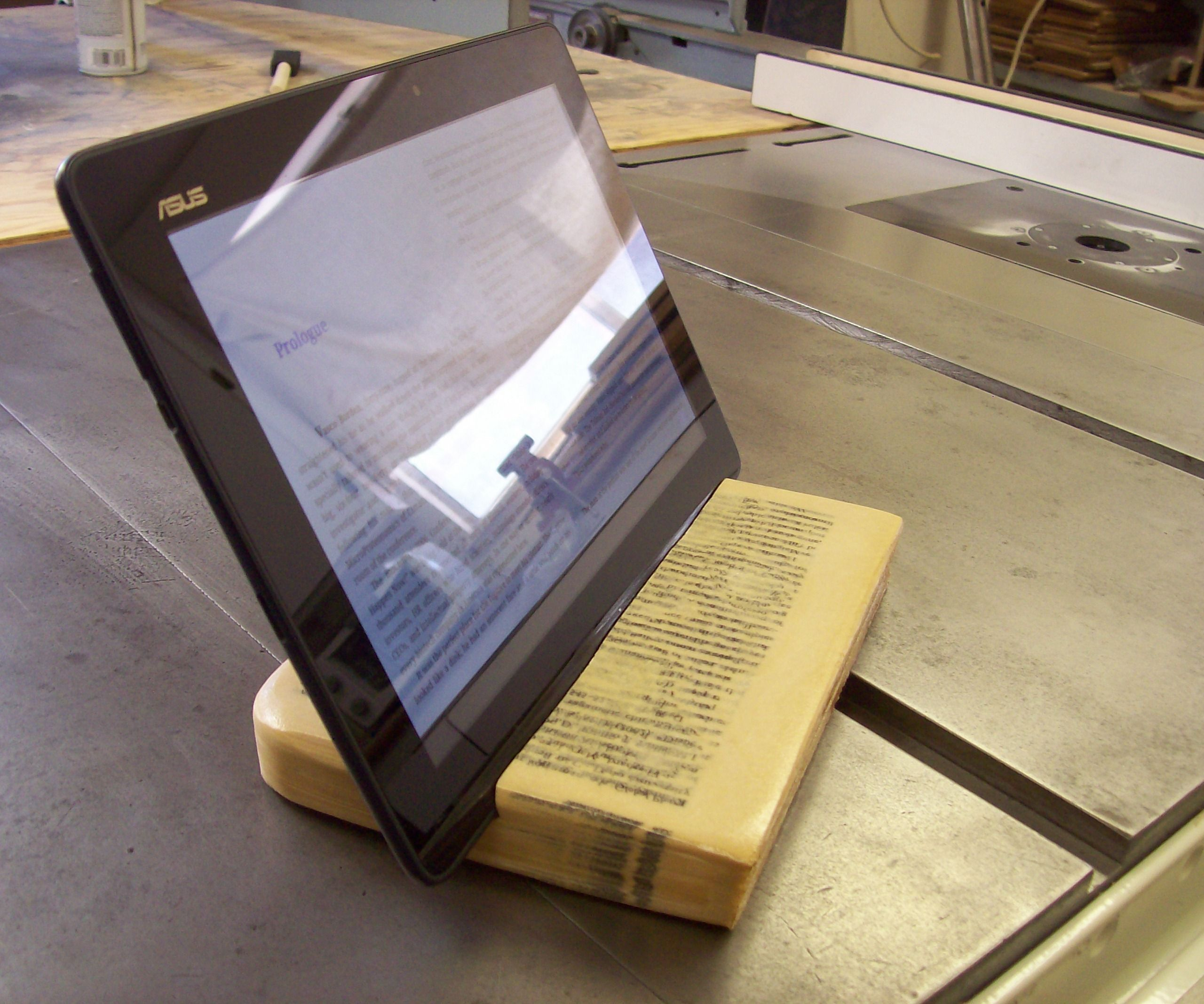 Book to Tablet Stand