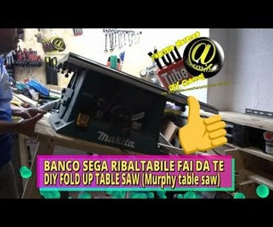How to Build DIY Fold Up Table Saw Stand (Murphy Table Saw)