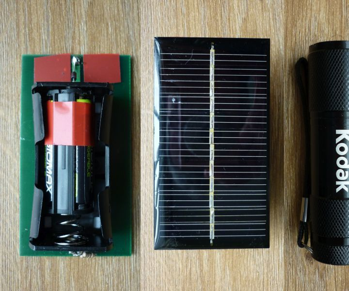 Solar Charge a Cheap 9 LED Torch