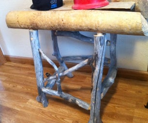 Reycycled Natural Beaver Chewed Rustic Wood Table ,the Only One in the World