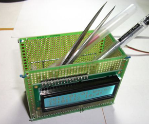 The Extension of DIY Clock :Electronic Calender of Pen Holder Shape