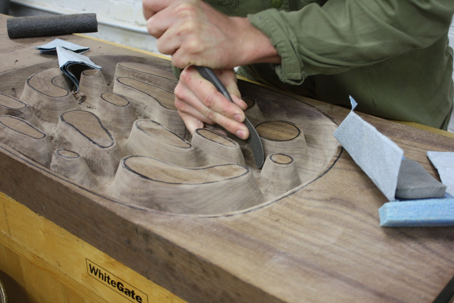 Shape and Smooth Out the Interior of the Bowl