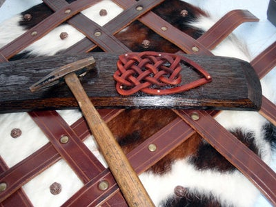 Woven Celtic Knot Out of Tooling Leather
