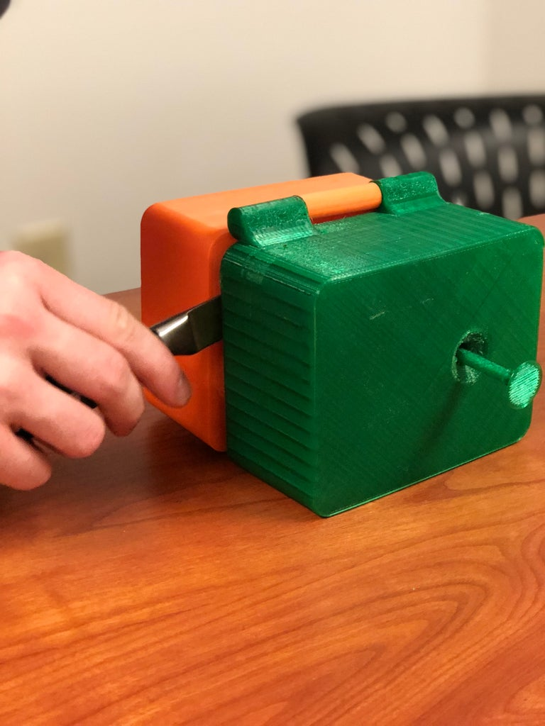 Place Device on Table With Hinges Up and Continue Cut