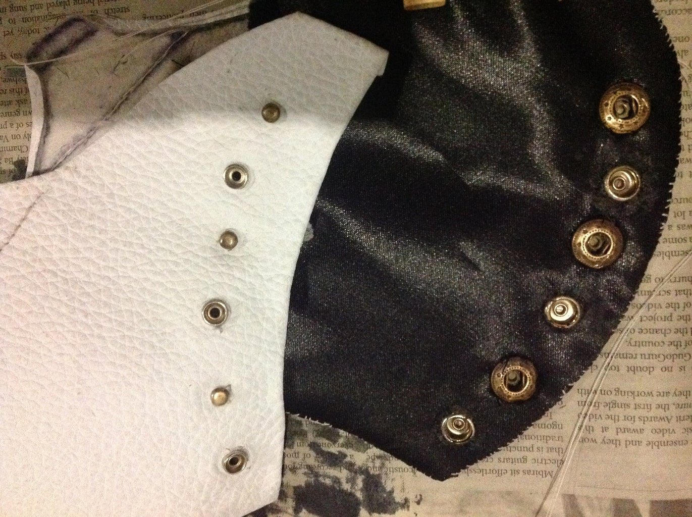 Sewing in the Inner Black Satin Layer.