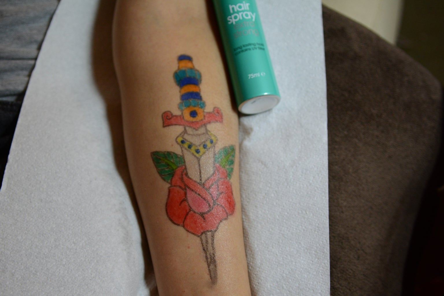 Filling With Colour and Sealing the 'tattoo'