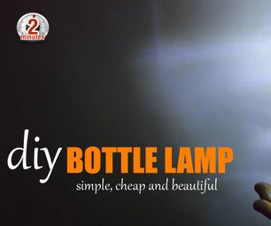How to Make Bottle Lamp - Best Out of Waste Whisky Glass Bottle Lamp