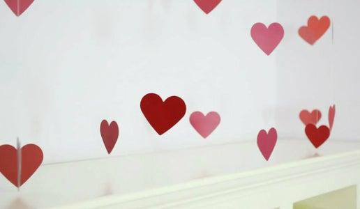 Dangling Ombre Heart Display