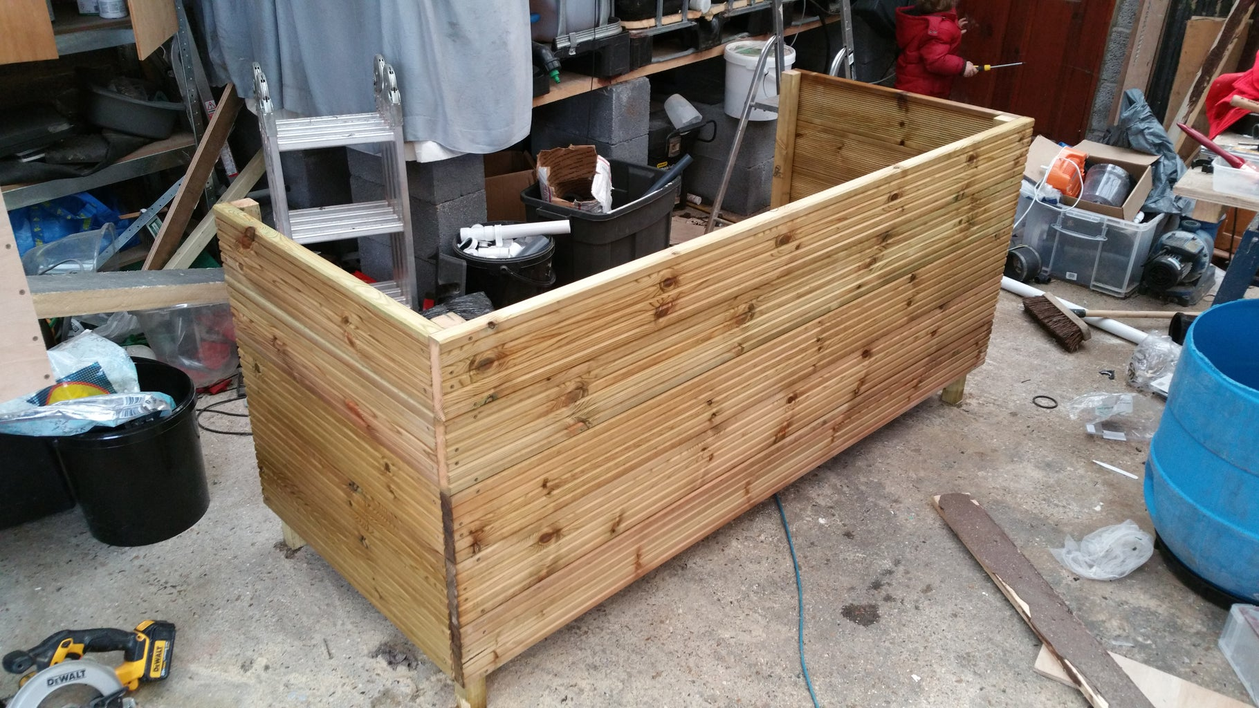 Build a Strong Frame to Hold and Hide Your Buckets.