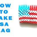 How to make 3D Origami USA FLAG (HD)