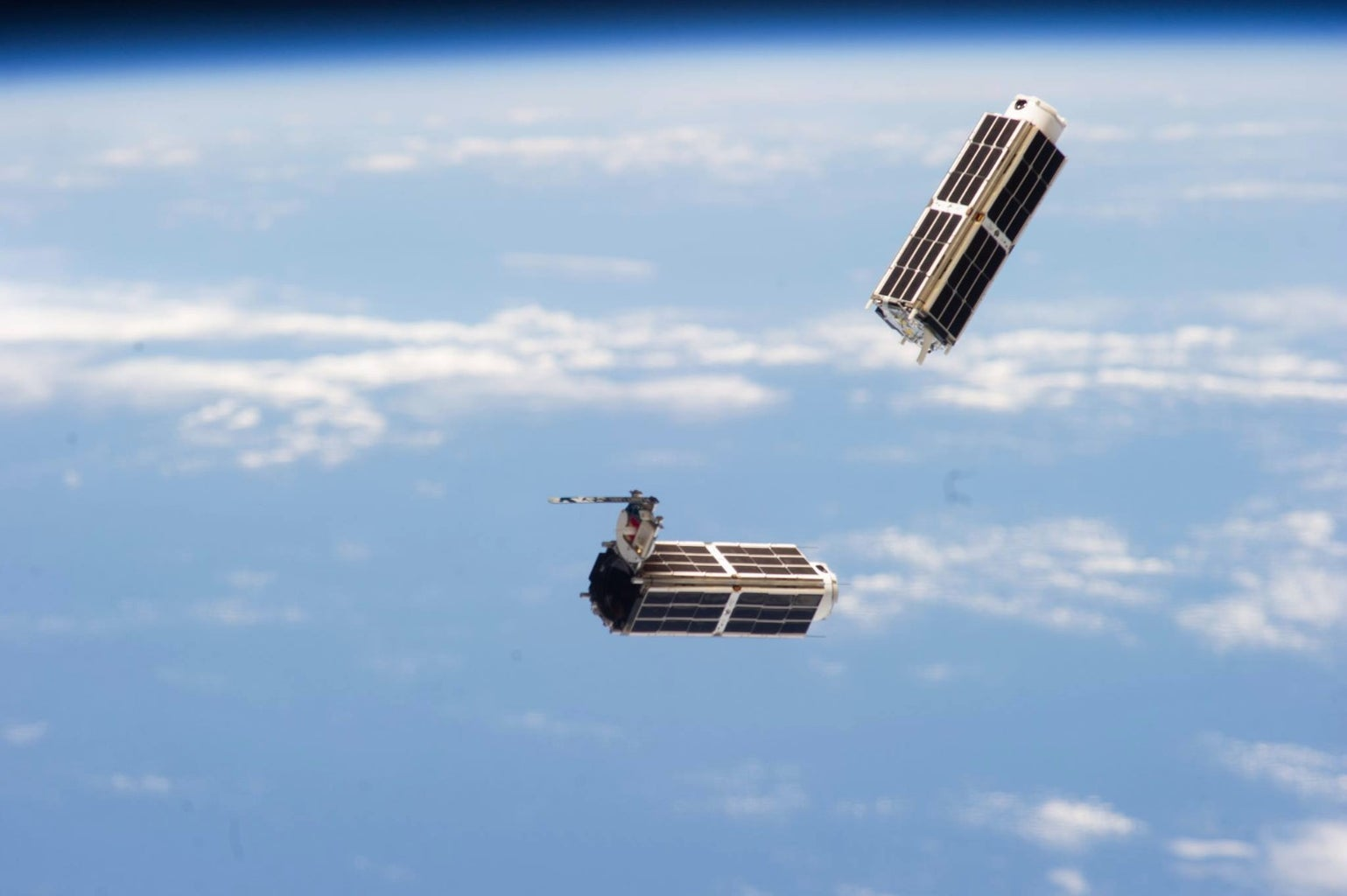 Release Satellites From International Space Station
