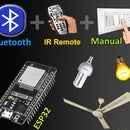 ESP32 Bluetooth Home Automation With IR Remote Control Relay | ESP32 Projects 2021