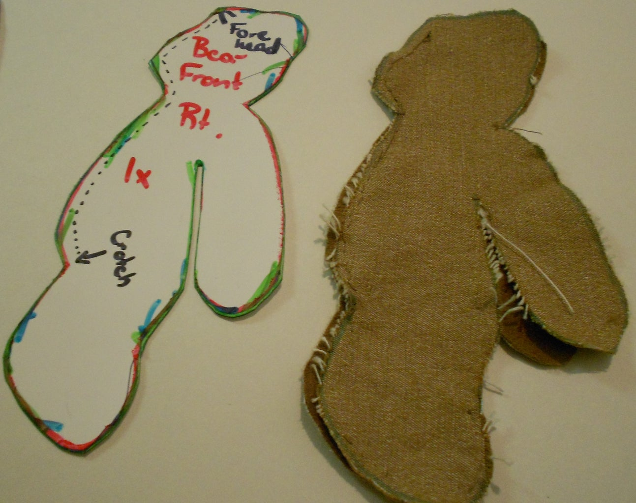 Sew the Front of Your Bear Together