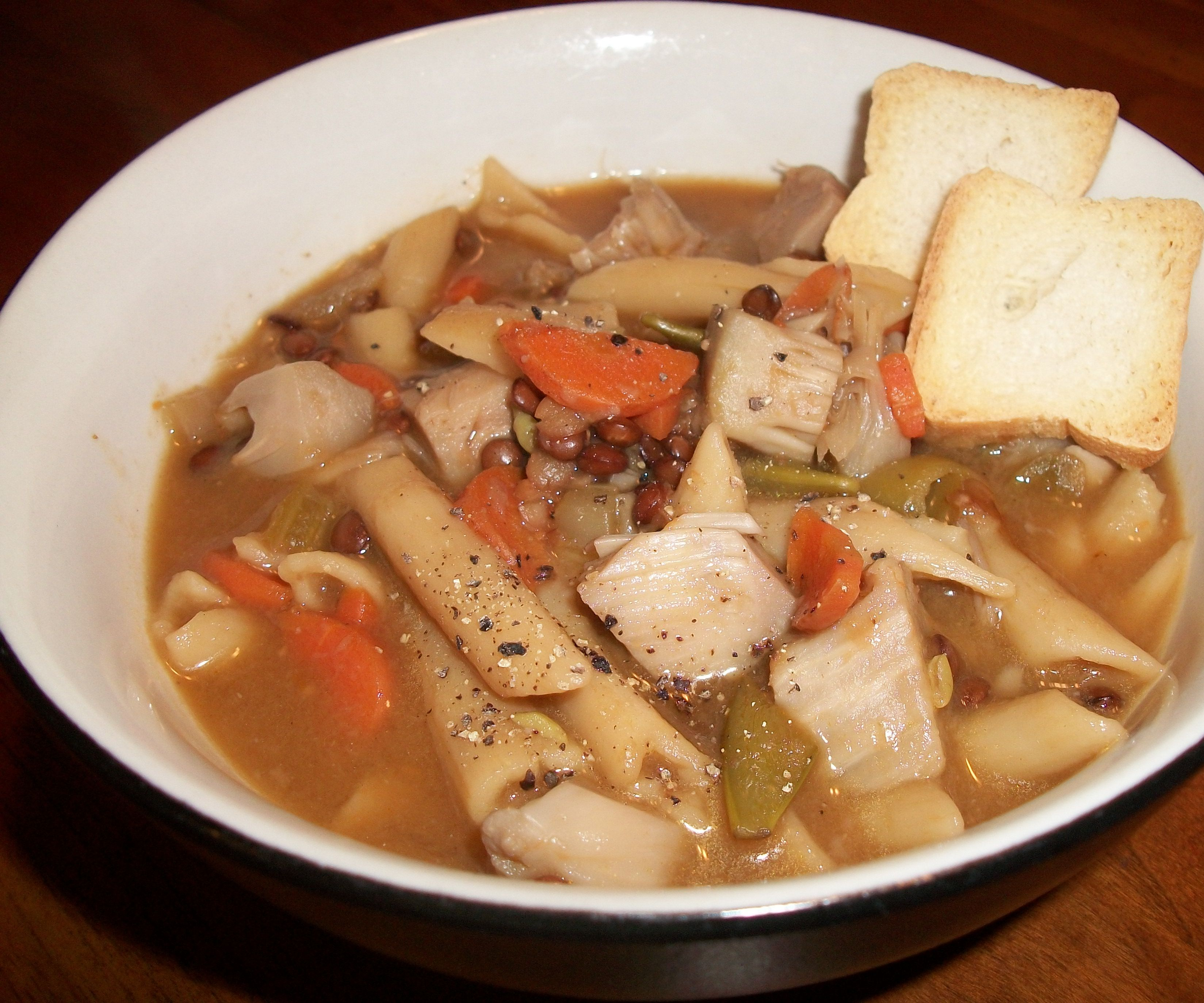 What do Vegans with Colds Eat? Vegan Chicken Soup