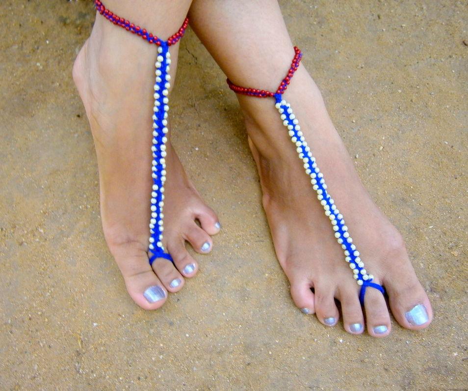Bead Braided Barefoot Swim Sandal