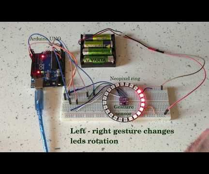 Controlling a Neopixel Led Ring With a Gesture Sensor