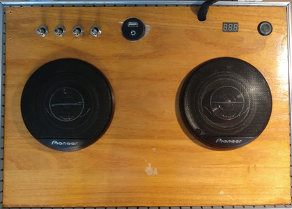 Preparing Wooden Plate for Speakers and Switches