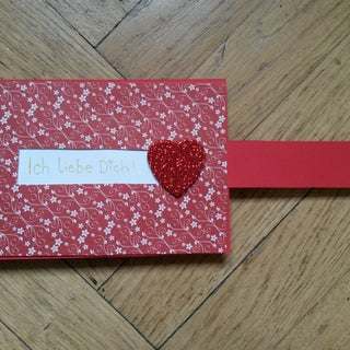 How to Make a Valentine's Day Card | Sliding Heart Greeting Card Ideas | DIY Paper Crafts