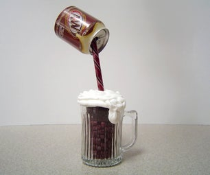 Pouring Root Beer Cupcake