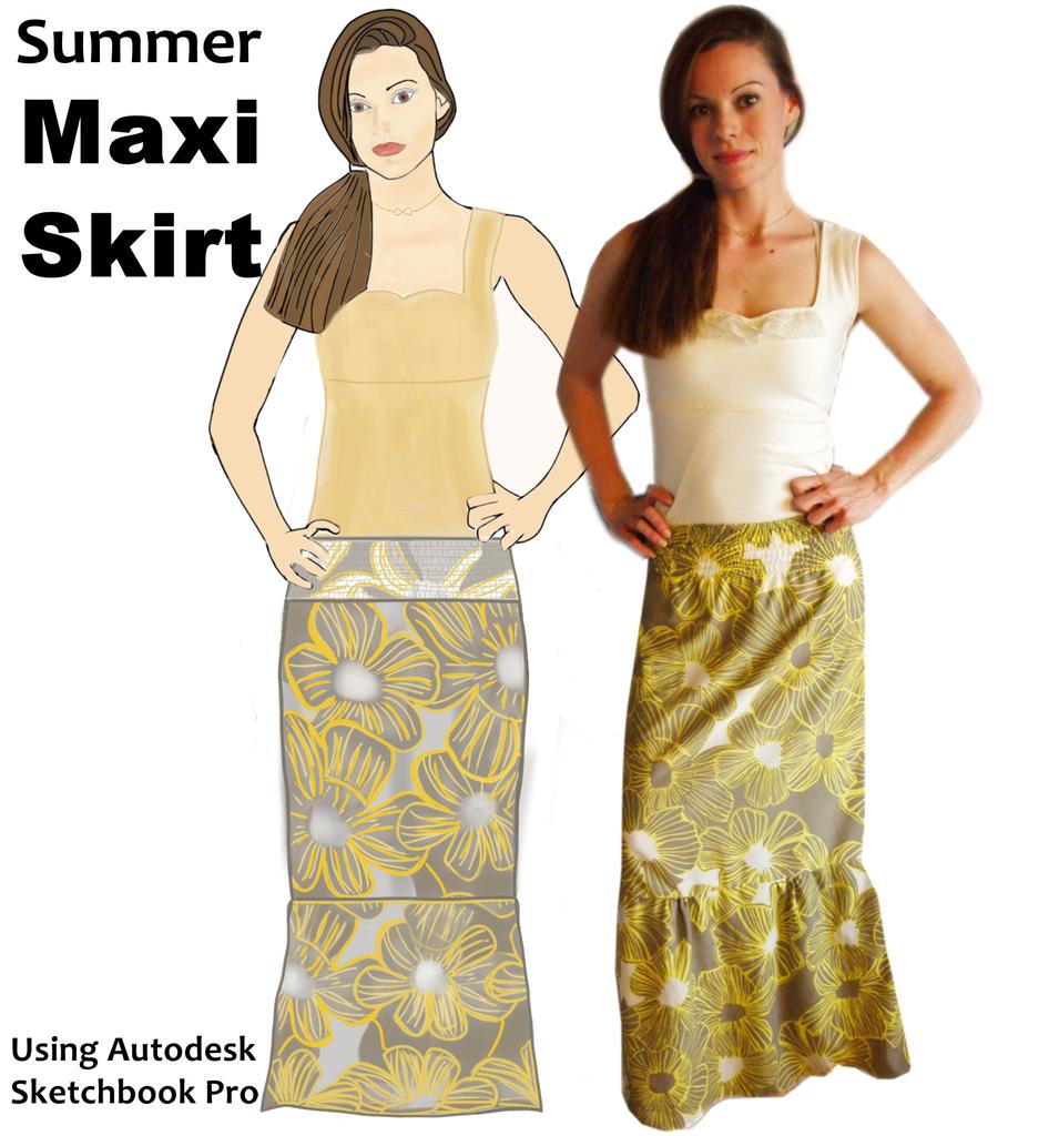 Summer Maxi Skirt - Simple & Stylish