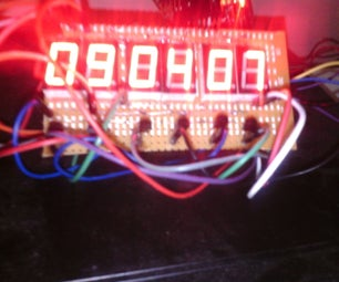 2cm Height 7 Segments 6 Digits AVR Clock  With 4 Digits Thermometer