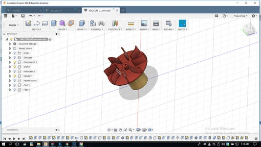 Designing of the Centrifugal Fan