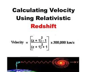 Python - Using Relativistic Redshift to Calculate Velocity of Star/Galaxy/Quasar