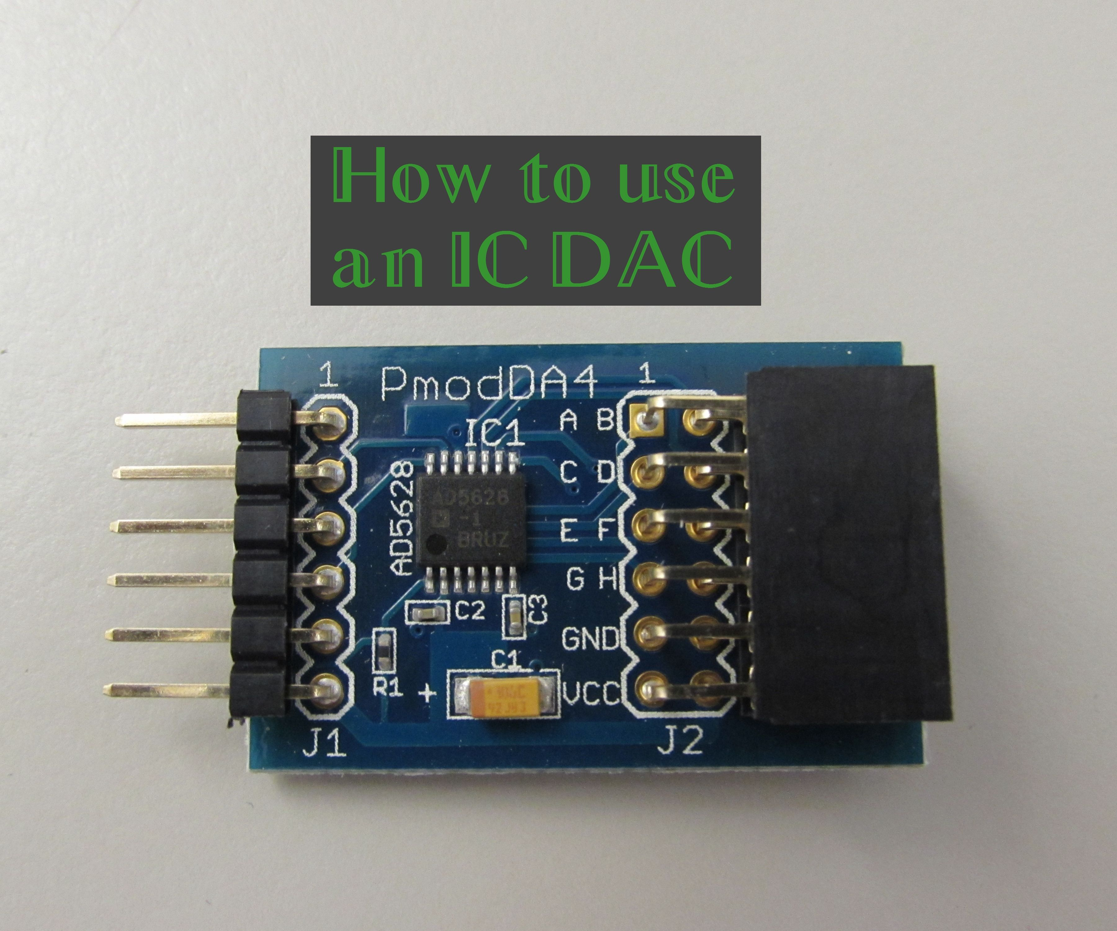 How to use an IC DAC